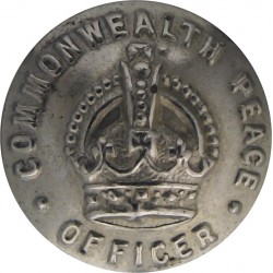 Australia: Commonwealth Peace Officer Guard 16.5mm - 1925-1952 with King's Crown. White Metal Police or Prisons uniform button