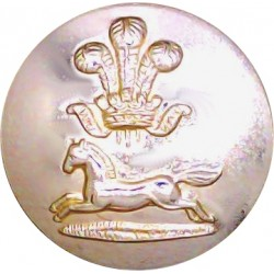 Prince Of Wales's Own Regiment Of Yorkshire 19.5mm - Gold Colour  Anodised Staybrite military uniform button