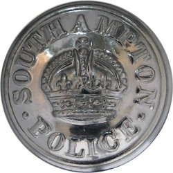 Southampton County Borough Police 24mm - Pre-1952 with King's Crown. Chrome-plated Police or Prisons uniform button