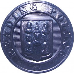 Reading Borough Police - Black 24.5mm - Pre-1952  Horn Police or Prisons uniform button