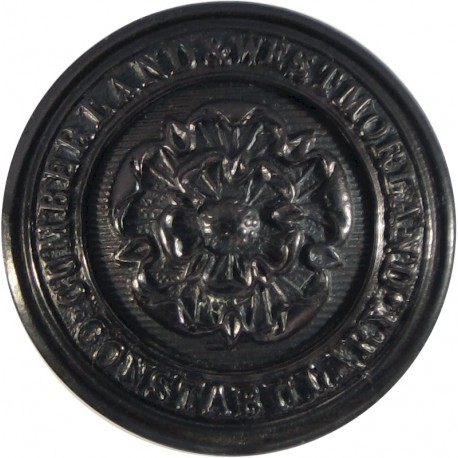 Cumberland And Westmorland Constabulary (Rose Centre 25mm - Pre-1963  Horn Police or Prisons uniform button