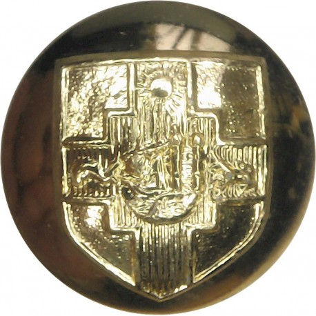 Bristol University Officers Training Corps 24.5mm - Gold Colour  Anodised Staybrite military uniform button