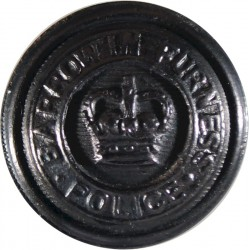 Barrow-In-Furness County Borough Police 17mm - 1952-1969 with Queen Elizabeth's Crown. Horn Police or Prisons uniform button