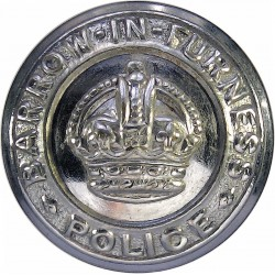 Barrow-In-Furness County Borough Police 24mm - Pre-1952 with King's Crown. Chrome-plated Police or Prisons uniform button