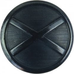 Police Service Of Northern Ireland 21mm - Black  Metal Police or Prisons uniform button