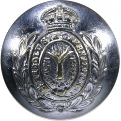 Caernarvonshire Constabulary (Wales) 26mm - Pre-1950 with King's Crown. Chrome-plated Police or Prisons uniform button