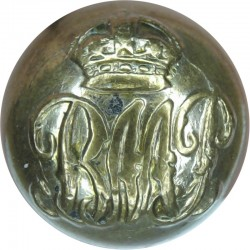 Basutoland Mounted Police (now Lesotho) 17mm - Ball Button with King's Crown. Gilt Police or Prisons uniform button