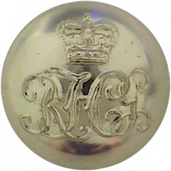 Royal Horse Guards (The Blues) - 1953-1969 16mm - Gold Colour with Queen Elizabeth's Crown. Anodised Staybrite military uniform