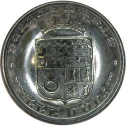 Algeria: Police D'Etat Ville D'Oran (French Colonial 22.5mm - Pre-1962  Chrome-plated Police or Prisons uniform button