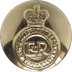 Royal Military Academy Sandhurst 14.5mm - Gold Colour with Queen Elizabeth's Crown. Anodised Staybrite military uniform button
