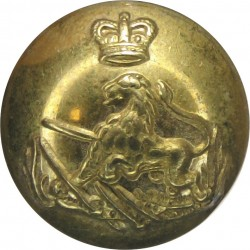British South Africa Police - 1953-1965 15.5mm with Queen Elizabeth's Crown. Gilt Police or Prisons uniform button