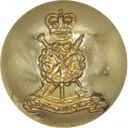 Royal Pioneer Corps - 1953-1985 19mm - Gold Colour with Queen Elizabeth's Crown. Anodised Staybrite military uniform button