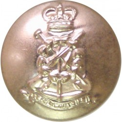 Army Apprentices School Pre-C.1967 26mm - Gold Colour with Queen Elizabeth's Crown. Anodised Staybrite military uniform button