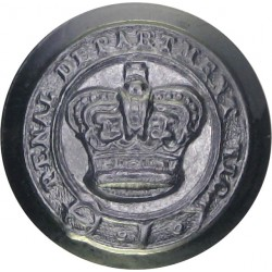 Australia: Victoria Penal Department 16mm with Queen Elizabeth's Crown. Chrome-plated Police or Prisons uniform button
