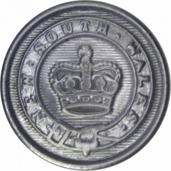 Australia: New South Wales Sheriff's Department 21mm with Queen Elizabeth's Crown. Chrome-plated Police or Prisons uniform butto