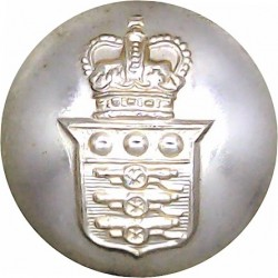 Intelligence Corps 26mm - Gold Colour Queen's Crown. Anodised Staybrite military uniform button