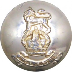 Royal Army Pay Corps 25.5mm - Gold Colour with King's Crown. Anodised Staybrite military uniform button