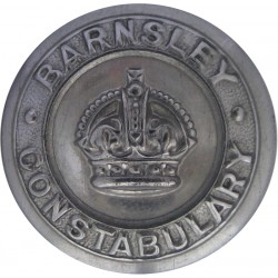 Barnsley County Borough Police 24mm - Pre-1952 with King's Crown. Chrome-plated Police or Prisons uniform button