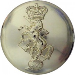 Royal Electrical & Mechanical Engineers 26mm - Gold Colour with Queen Elizabeth's Crown. Anodised Staybrite military uniform but