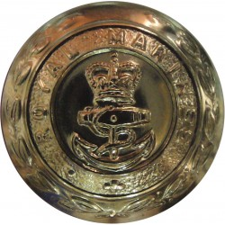 Royal Marines 24.5mm - Gold Colour with Queen Elizabeth's Crown. Anodised Staybrite military uniform button
