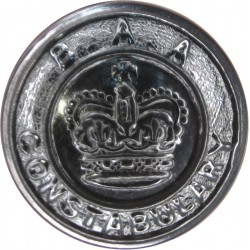 British Airports Authority Constabulary 24mm - 1966-1974 with Queen Elizabeth's Crown. Chrome-plated Police or Prisons uniform b