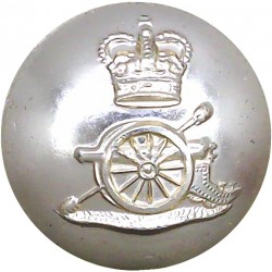 Royal Artillery 25.5mm - Gold Colour with Queen Elizabeth's Crown. Anodised Staybrite military uniform button
