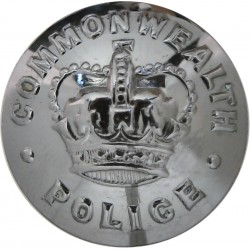 Australia: Commonwealth Police 21mm - 1960-1979 with Queen Elizabeth's Crown. Chrome-plated Police or Prisons uniform button
