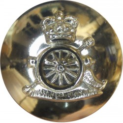 Royal Artillery 19mm - Gold Colour with Queen Elizabeth's Crown. Anodised Staybrite military uniform button