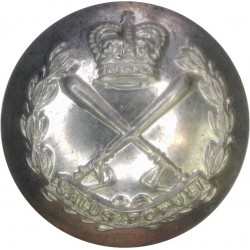 British Colonial Police - Crossed Truncheons 25.5mm with Queen Elizabeth's Crown. Silver-plated Police or Prisons uniform button
