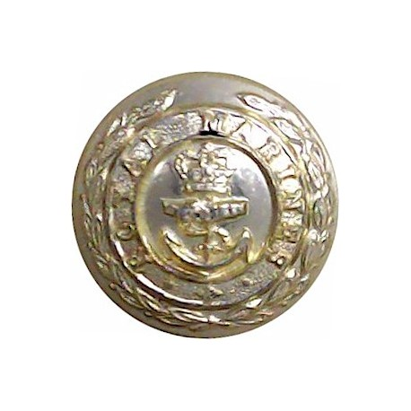 Welsh Guards 26.5mm - Gold Colour with Queen Elizabeth's Crown. Anodised Staybrite military uniform button