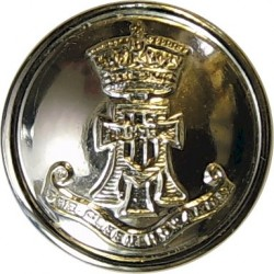 Green Howards (With Scroll) 19mm - Gold Colour  Anodised Staybrite military uniform button
