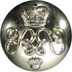 Blues And Royals (Royal Horse Guards & 1st Dragoons) 25.5mm - Gold Colour Queen's Crown. Anodised Staybrite military uniform but