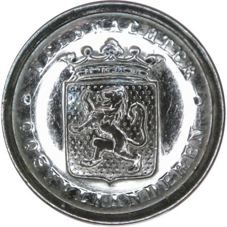 Belgian Police - Veldwachter Oost-Vlaanderen 24.5mm East Flanders  Chrome-plated Police or Prisons uniform button