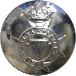 Malta Police (Maltese Cross) 24.5mm with King's Crown. Silver-plated Police or Prisons uniform button