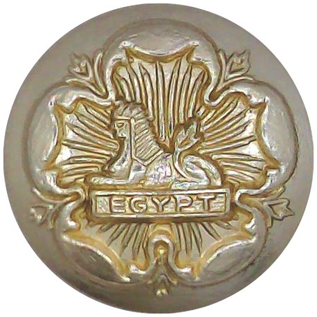 Welsh Guards 20mm - Gold Colour with Queen Elizabeth's Crown. Anodised Staybrite military uniform button