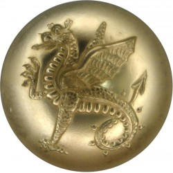 Wessex Regiment (Volunteers) 25.5mm - Gold Colour  Anodised Staybrite military uniform button