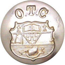 Queen's University Officers Training Corps (Belfast) 19.5mm - Gold Colour  Anodised Staybrite military uniform button