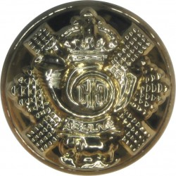 Highland Light Infantry (City Of Glasgow Regiment) 18.5mm - Gold Colour with King's Crown. Anodised Staybrite military uniform b