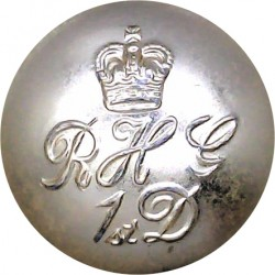 Blues And Royals (Royal Horse Guards & 1st Dragoons) 25.5mm - Gold Colour with Queen Elizabeth's Crown. Anodised Staybrite milit