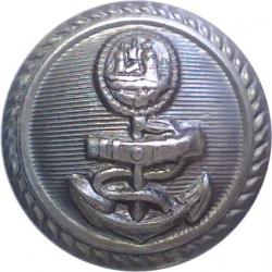 Port Of Bristol Authority Police (20 Officer Unit) 16mm - Rare  Chrome-plated Police or Prisons uniform button