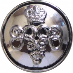 Honourable Artillery Company (Infantry) - Rimmed 14mm Silver Colour with Queen Elizabeth's Crown. Anodised Staybrite military un