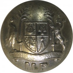 Mauritius Prisons 16.5mm - Post-1968  White Metal Police or Prisons uniform button