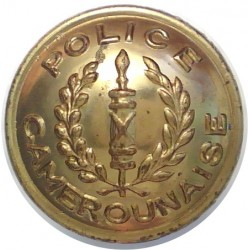 Cameroon - Police Camerounaise 16mm  Gilt Police or Prisons uniform button
