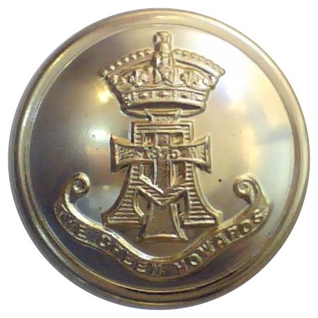 Green Howards (With Scroll) 26.5mm - Gold Colour  Anodised Staybrite military uniform button