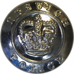 Ipswich Police 17.5mm - 1952-1967 with Queen Elizabeth's Crown. Chrome-plated Police or Prisons uniform button