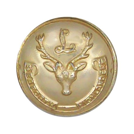 Army Catering Corps 25mm - Gold Colour with King's Crown. Anodised Staybrite military uniform button