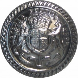 Australia: Victoria Police Force - Senior Officers 23.5mm with King's Crown. Chrome-plated Police or Prisons uniform button