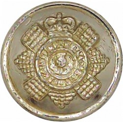 Scots Guards 18.5mm - Gold Colour with Queen Elizabeth's Crown. Anodised Staybrite military uniform button