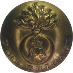 Birmingham Fire Brigade - Flaming Grenade Pattern 27.5mm - Pre-1941  Brass Fire Service uniform button