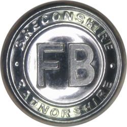 Breconshire & Radnorshire Fire Brigade 17mm - 1948-1974  Chrome-plated Fire Service uniform button